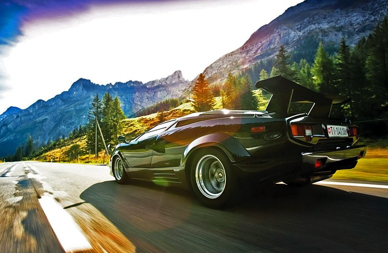 Lamborghini-Countach-speed