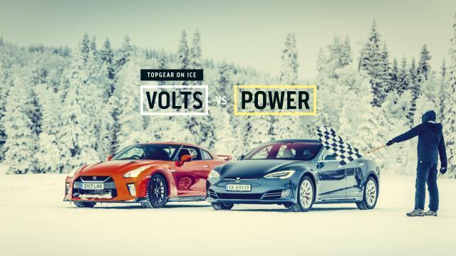 TG на льду: Nissan GT-R vs Tesla Model S P100D