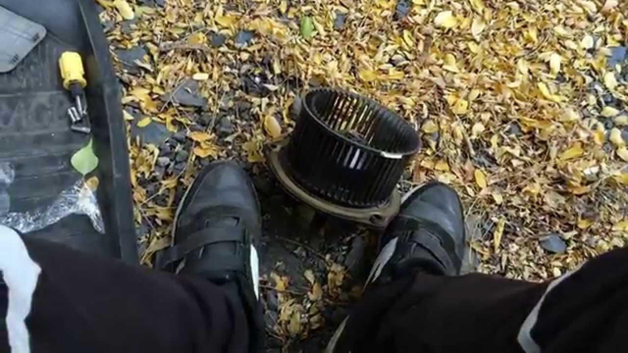 Где находится вентилятор печки на калине