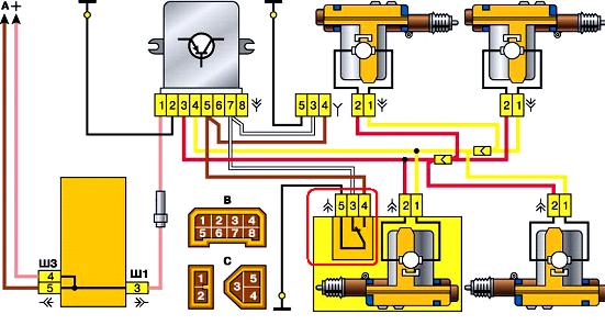 gde nahoditsja blok centralnogo zamka vaz 2110 1 1 - Схема блока управления центрального замка