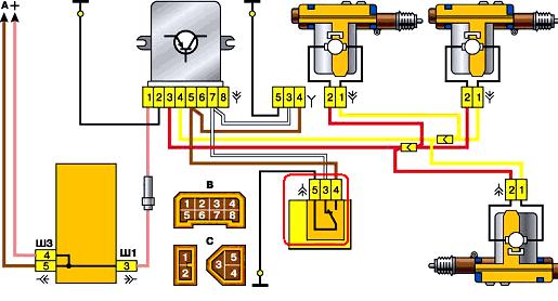 gde nahoditsja blok centralnogo zamka vaz 2110 4 1 - Схема блока управления центрального замка