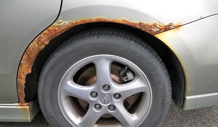 Как удалить ржавчину колесных арок